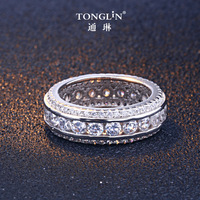 TONGLiN Exquisite Lovers Ring 925 Sterling Silver CZ Rings For Women Fashion Wedding Bands ring Zirconia Jewelry Accessories