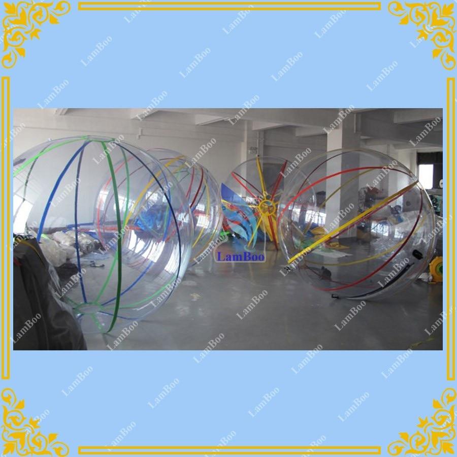 Горячая 2 м диаметра водный прогулочный мяч, коммерческое использование Гигантский Водный Бассейн Мяч, прозрачный пузырь футбол