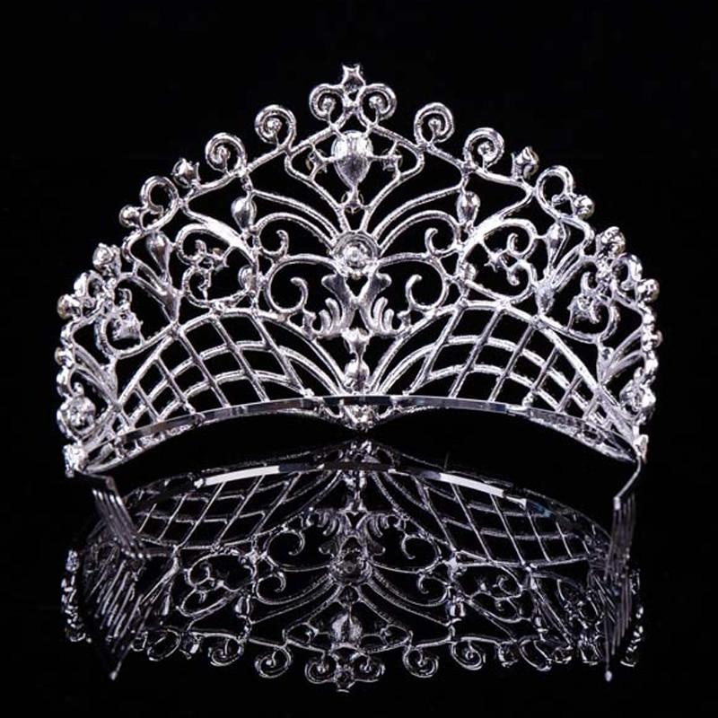 2019 nouvelle grande européenne mariée mariage diadèmes couronnes - Bijoux fantaisie - Photo 2