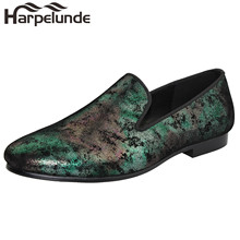 Harpelunde Painting Leather Men Dress Shoes Classic Loafers