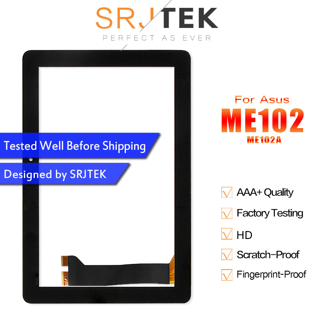 SRJTEK 10.1 For Asus MeMO Pad 10 ME102 Touch ME102A K00F MCF-101-0990-01-FPC-V4.0 Touch Screen Digitizer Glass Sensor Tablet PCSRJTEK 10.1 For Asus MeMO Pad 10 ME102 Touch ME102A K00F MCF-101-0990-01-FPC-V4.0 Touch Screen Digitizer Glass Sensor Tablet PC