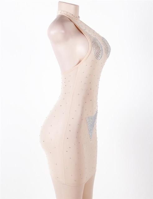 Sex Erotic Skin Color Pearls Sex Clubwear