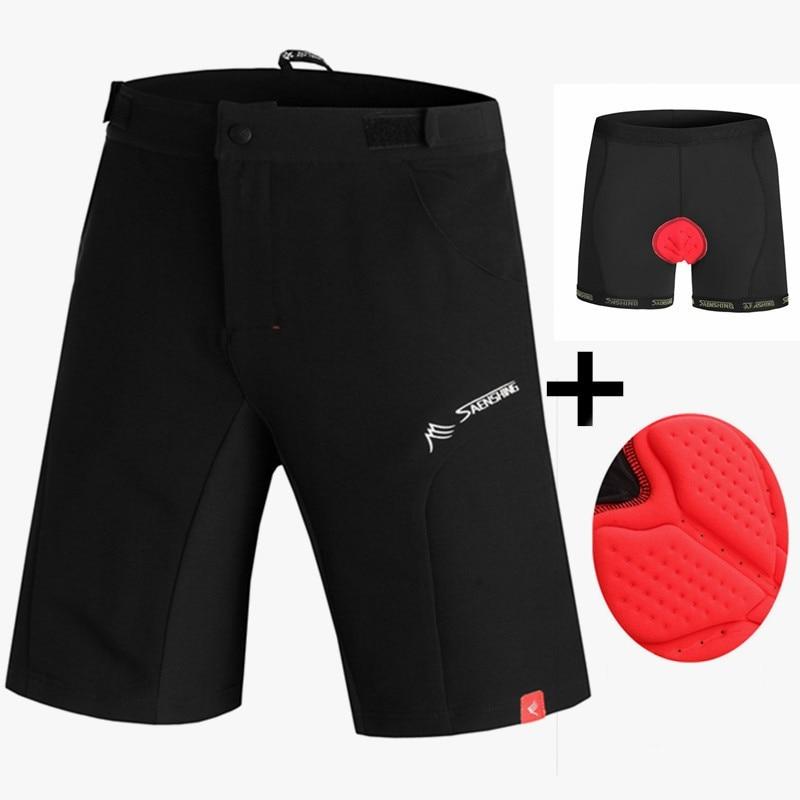 Mtb Shorts+ 3D Gel Pad shorts Downhill Shorts Bermuda Ciclismo Vtt Bisiklet
