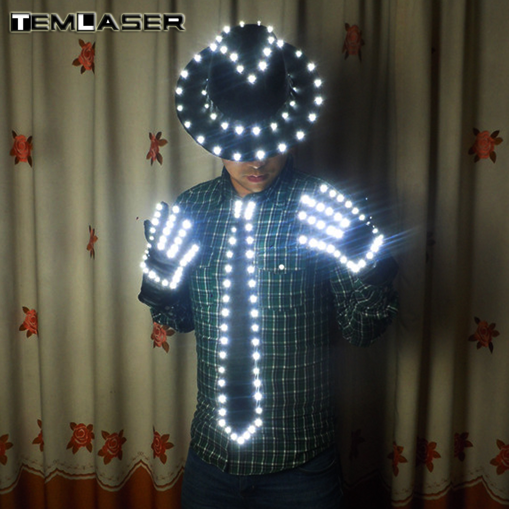 Бесплатная доставка светодиодный костюм одежда праздничные вечерние поставки светодиодный этап одежда светодиодный костюм для Майкл Джек