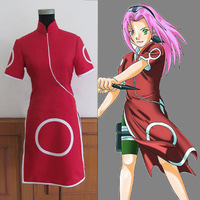 High Quality Hot Anime Cosplay Naruto Costume Women Haruno Sakura Cosplay Costume