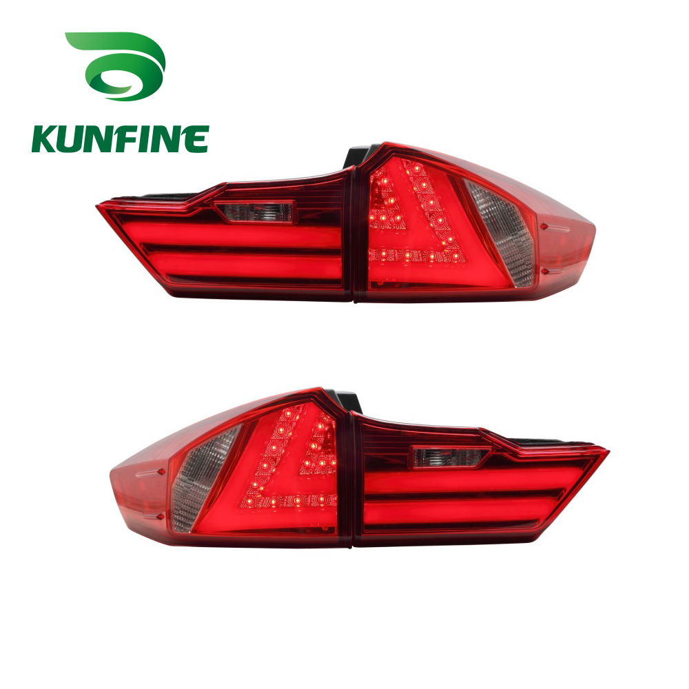 KUNFINE Pair Of Car Tail Light Assembly For Honda City 2014 LED Brake Light With Turning Signal Light pair of car tail light assembly for honda city 2014 brake light with turning signal light