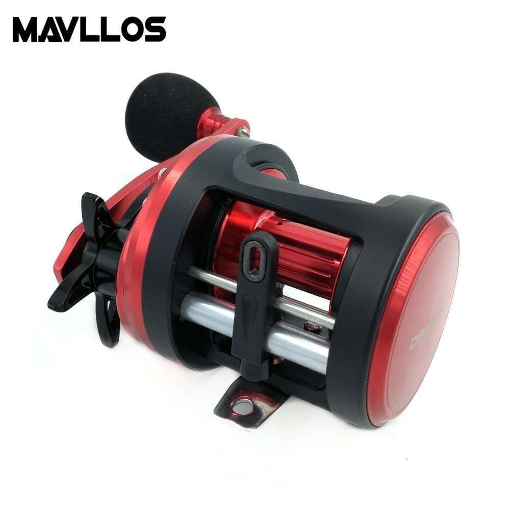 Mavllos Metal Shell Round Baitcasting Reel Left Right Handle Single EVA Knob Lure Bait Cast Reel For Snakehead Fishing Reels