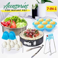7Pcs Instant Pot Accessories Pressure Cooker Accessories Stainless Steel Steamer Basket Cookware Set Kitchen Cooking Tools