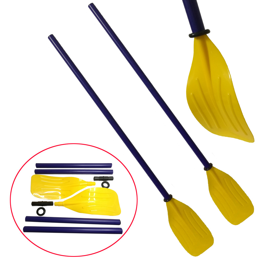 1 Pair 114cm/45inch Plastic Kayak Canoe Paddle Water Boat Rafting Oar Paddle Easy Carrying Paddle