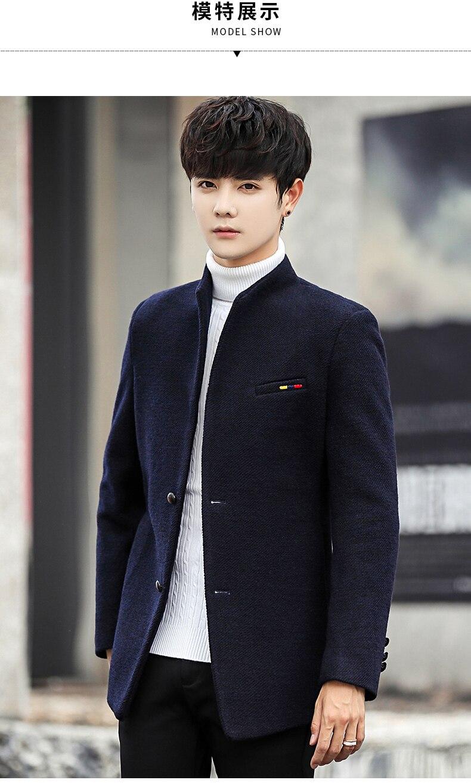 2018 neue Wollmischung Wintermantel Männer kurze Männer Jacken koreanische Mann Jacke Einreiher schlanke Herren Mantel 4 Farbe 5xl