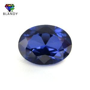 Image 1 - Groothandel Prijs 3x5mm ~ 13x18mm #34 Blauwe Stenen Ovale Vorm Briljant Geslepen Synthetische Korund Stone Gems voor Sieraden