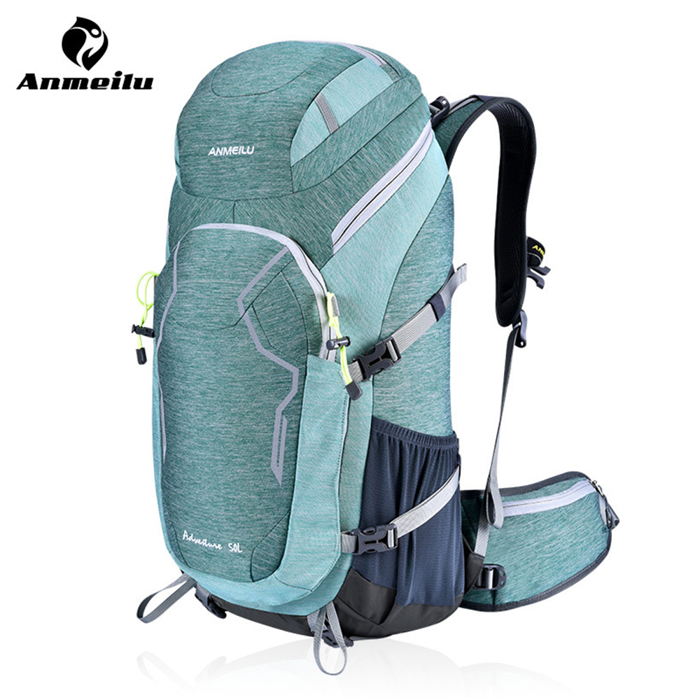 ANMEILU Outdoor Camping Backpack Mountaineering Travel Backpack Hiking Climbing Hunting 50L Backpacks Free Water Cover BolsaANMEILU Outdoor Camping Backpack Mountaineering Travel Backpack Hiking Climbing Hunting 50L Backpacks Free Water Cover Bolsa