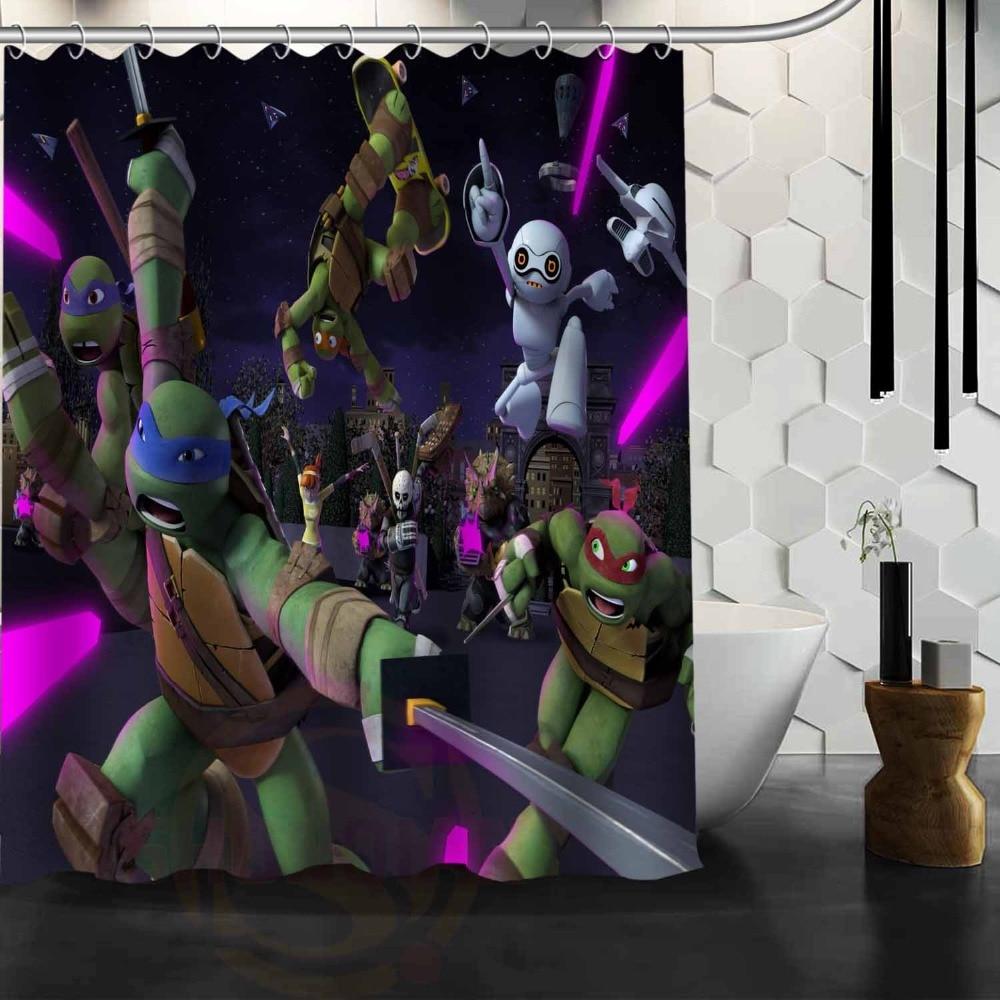 TMNT Teenage Mutant Ninja Turtles Fashion Print Custom Shower Curtain  Bathroom Decor Free Shipping(China