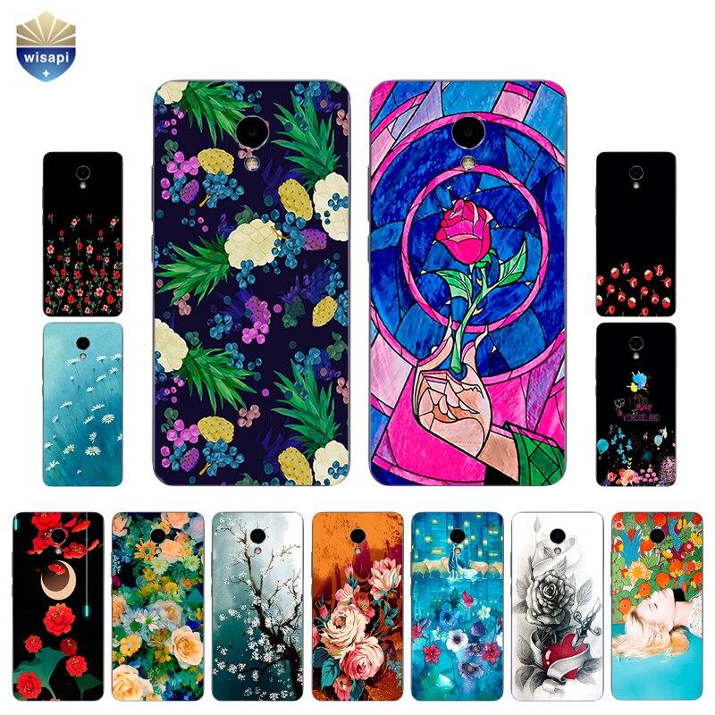 Для Meizu M1 M2 M3 M5 M6 Примечание Телефон чехол для meilan M3 Note Pro В виде ракушки для Meizu M3 Max крышка ТПУ Красота цветы Дизайн роспись