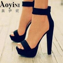 Новинка года; пикантные женские туфли-лодочки; модные сандалии; Летняя обувь; Босоножки с открытым носком на высоком каблуке 16 см; босоножки с ремешком на щиколотке и плетеным кольцом