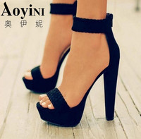 2018 New Sexy Women Pumps Fashion Sandals Summer Shoes High Heel 16cm Peep Toe Sandals Braided Foot Ring Ankle Strap Sandals