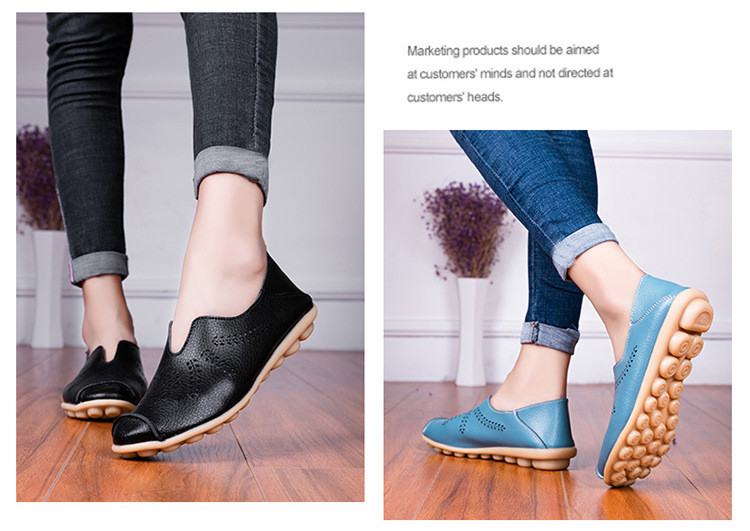 AH 1866-1-2019 Summer Women Loafers Genuine Leather Woman Shoes-9