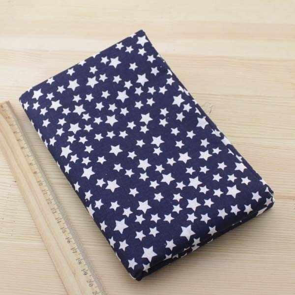 Booksew 7pcs Navy blue 50cmx50cm fat quarters Cotton Fabric for DIY Sewing Patchwork Fabrics Tilda Cloth telas tecido tulle