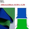 2x1 M Doble Cara 2 Tela pies x 3.2ft Fondo Croma Verde y Azul de Algodón Blanco y Negro clave de Muselina Telones de fondo de Pantalla de material
