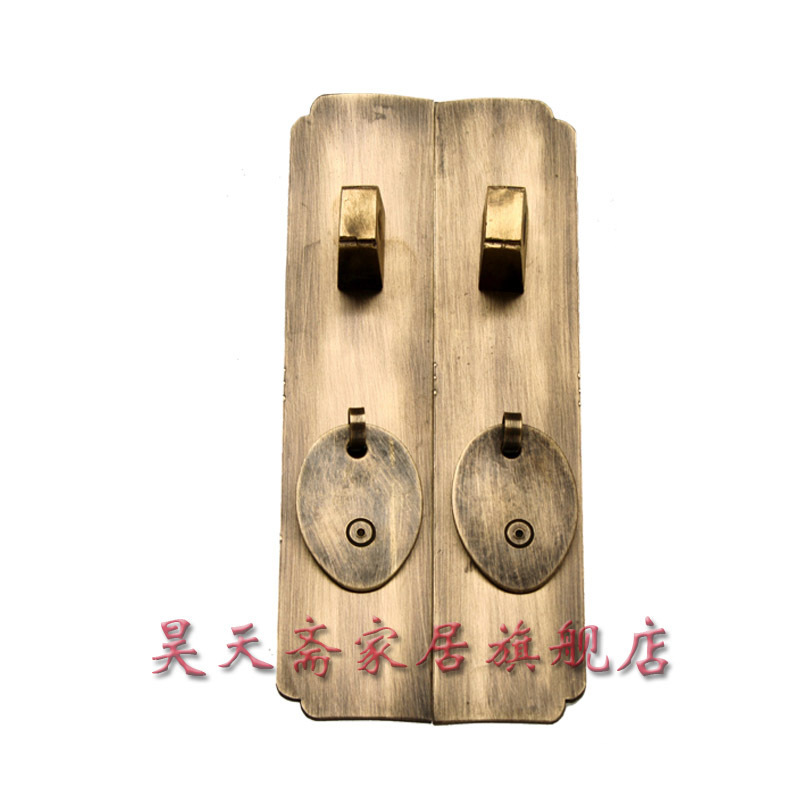 [Haotian vegetarian] coat Roof cabinet accessories / Ming and Qing antique furniture, brass fittings / Chinese decoration access [haotian vegetarian] antique chinese brass coat detachable door hinge hinge small 9cm