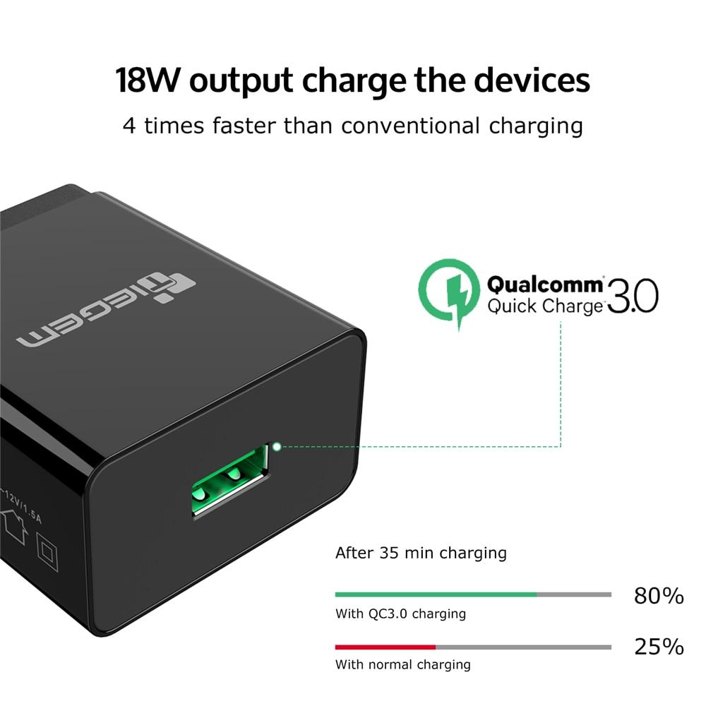 TIEGEM արագ լիցքավորում 3.0 USB պատի - Բջջային հեռախոսի պարագաներ և պահեստամասեր - Լուսանկար 2