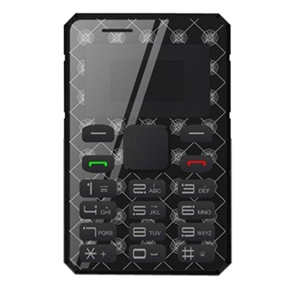 AEKU K8 6 мм Ультра Тонкий Карманный Мини Тонкий Телефон Карты 0.96 дюймовый Разблокирована Bluetooth 2 Г Сети GSM Мобильный Телефон MP3 QWERTY Клавиатура FM