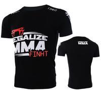 Man T Shirt Mma Fight Tops Fightwear Boxing Training Tops Sportwear