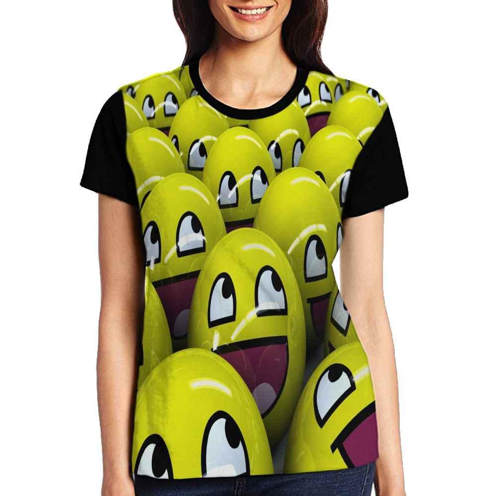 SAMCUSTOM женские футболки с коротким рукавом женская футболка 3D преувеличенный Экспрессия пакет эмодзи Футболка женские Топы Повседневная футболка
