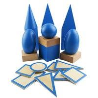 Montessori Math Materials Preschool Montessori Sensorial Solid Geometry Block Early Learning Teaching Aids For Kids UB0967H