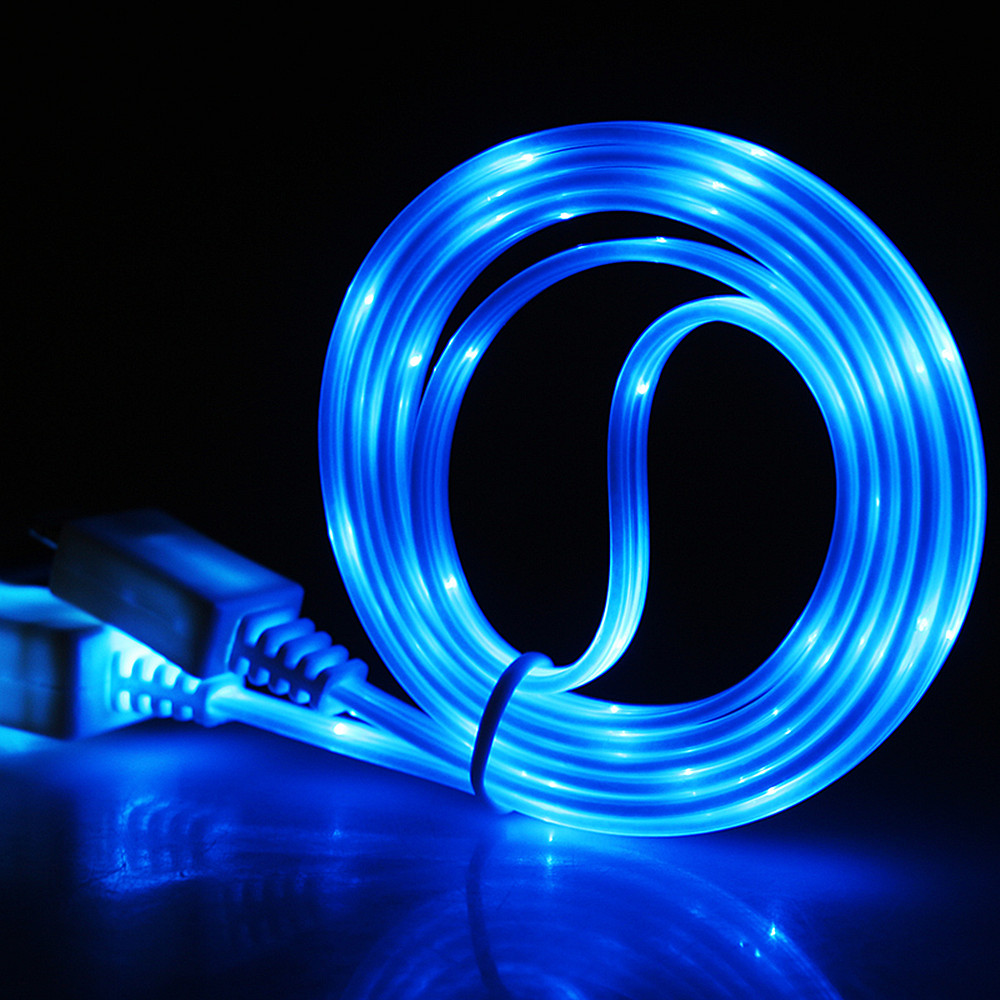 LED Glow Data USB <font><b>Charger</b></font> Type C/Micro USB/8 Pin Charging Cable for iPhone X <font><b>Samsung</b></font> Galaxy <font><b>S9</b></font> S8 Huawei Xiaomi Charge Wire Cord image