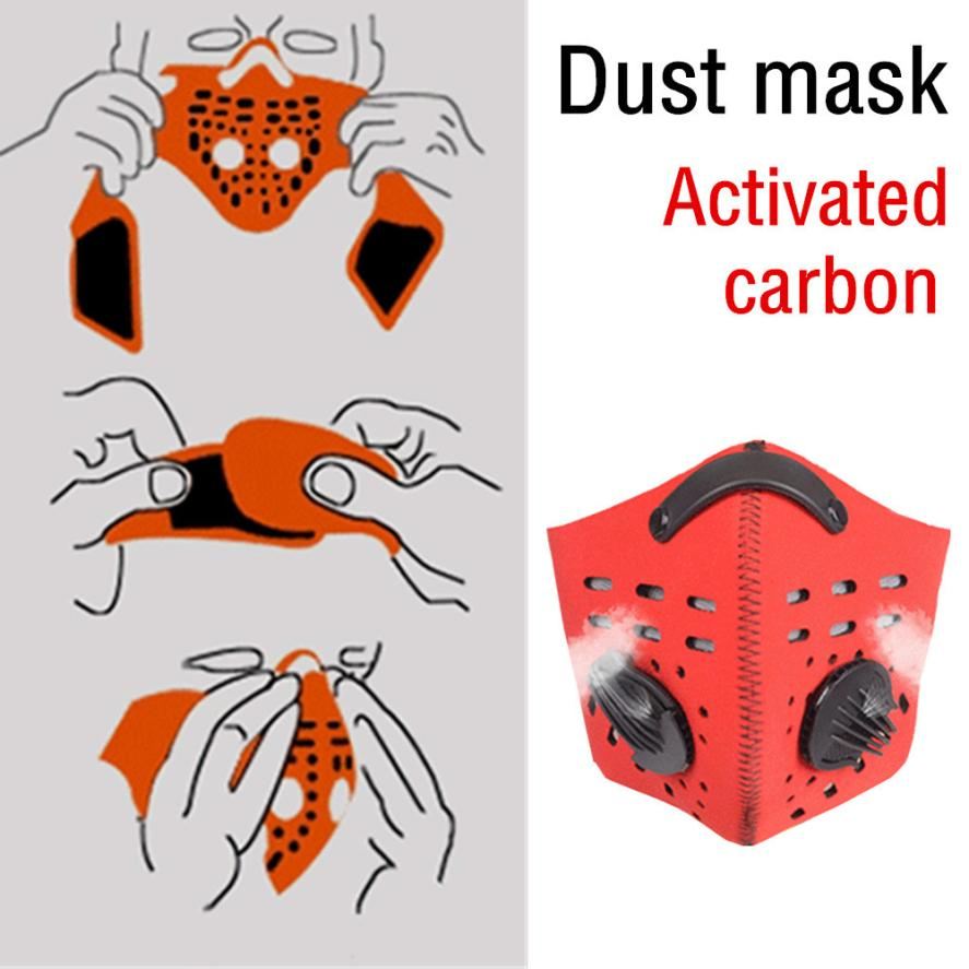 New Arrival Novel Style Outdoor Cycling Dustproof Mask Activated Carbon Filtration Exhaust Gas Face Useful Masks Bicycle Tools