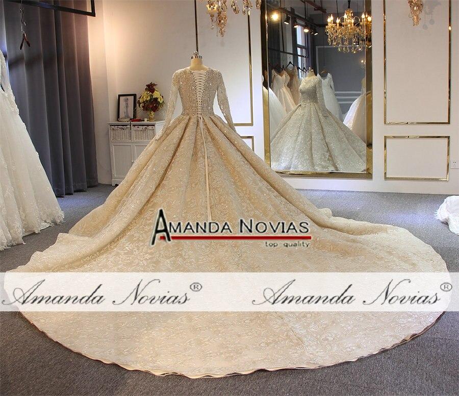 Image 3 - wedding dress 2019 full lace beading luxury sparkling wedding gown bridal dress-in Wedding Dresses from Weddings & Events