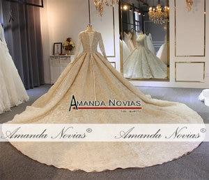 Image 3 - wedding dress 2020  full lace beading luxury sparkling wedding gown bridal dress