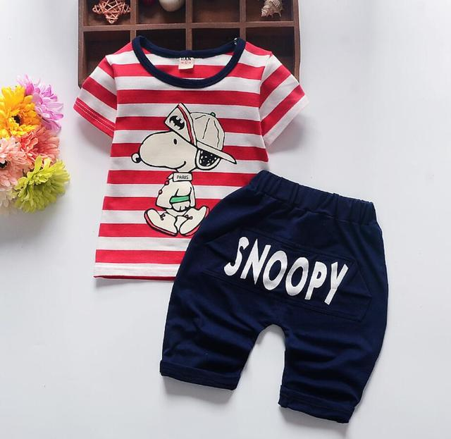 a7304197cf87 Kids Clothes Baby Boy Clothes Children 2018 New Summer Toddler Boys  Clothing set Cartoon Dog Kids Fashion Cotton Cute Sets