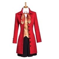 Anime Fate Stay Night Cosplay Rin Tohsaka Costumes Halloween Costume for Women Trench Coat Vest Skirt Full Set Cosplay Costume