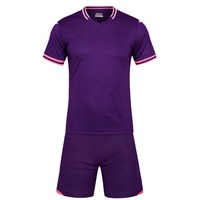 Deep Purple Men Short Sleeve 2017 7color Size Tracking Purple Kits Jersey Adult Soccer Football Suit