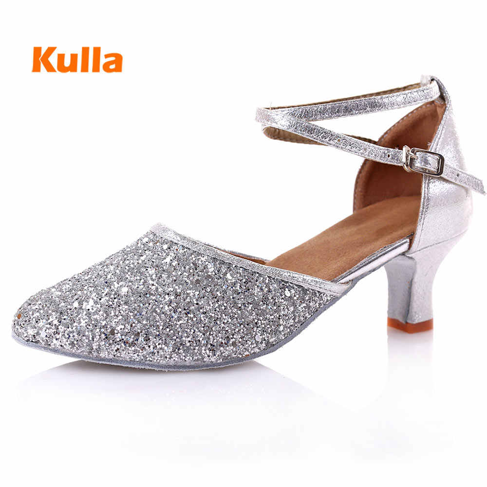 55d6114ded0f ... Latina zapatos de baile para las mujeres las niñas salón de baile  fiesta Tango Salsa zapatos ...