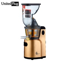 UnitedPlug bocaza Exprimidor eléctrico de zumo de naranja automática máquina exprimidor eléctrico lento T-Q9 multifunción procesador de alimentos