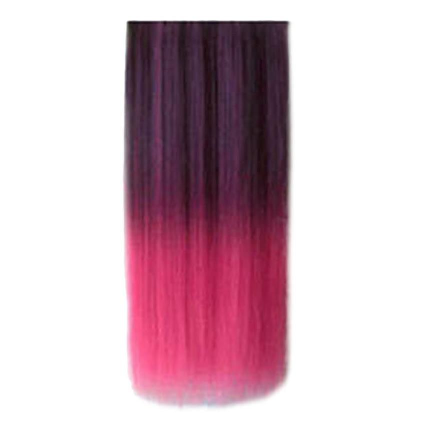 Ombre Dip-dye Wig Color Clip In Hair Extension Length Straight For Fashion Women Drop Shippinng OC18
