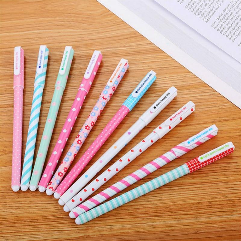 0.5mm Kawaii Creative ballpoint pen creativos Cartoon Broken flower pattern cute School Office Supplies Pen Stationery christmas