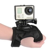 360 Degree Swivel Rotation Hand Strap Belt Tripod Mount Glove Wrist Band For GoPro Hero 4/3+/3 Go Pro SJCAM SJ4000 SJ5000 SJ6000