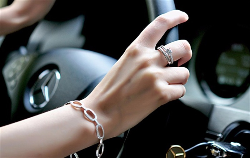 HTB1JDewXgoQMeJjy0Fnq6z8gFXaT 100% 925 Sterling Silver Rings for Women Double Simple Design Ring Bijoux Femme Bridal Wedding Jewelry Engagement Accessories