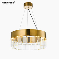 Art Deco LED Lustres Pendant Light for Hotel Hall Dining Room Parlor Pendant Lamp Gold Restaurant and Pub Hanging Lamp