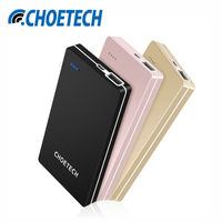 Power Bank 10000mAh CHOETECH Mobile Backup Powerbank Baterry External Universal Charger For Xiaomi IPhone Huawei Samsung