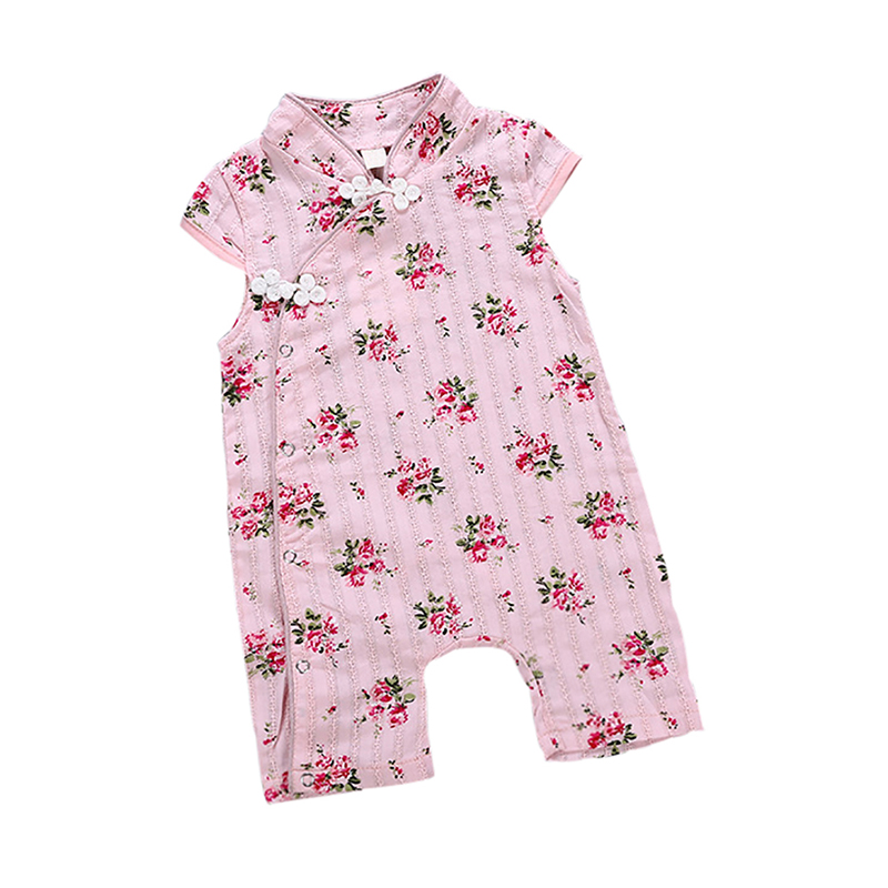 2019 New Baby Girl Clothes Summer Jumpsuit Cute Cheongsam Romper Photography Infant Floral Clothes