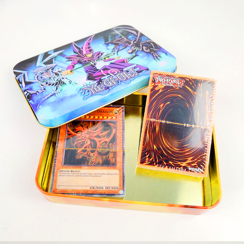 Yugioh 108pcs Set Cards Egyptian God Collectible Toys For Boy Yu Gi Oh Legendary Board Game Collection Cards With Metal Box