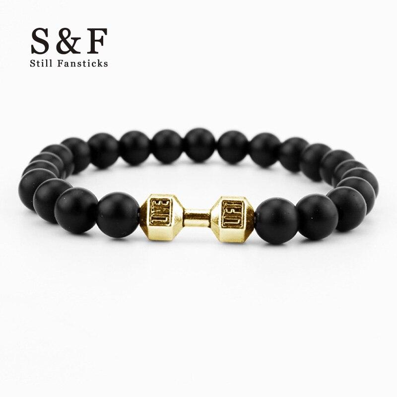 Dumbbells Bracelet Men Jewelrys