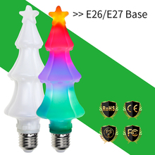 CanLing 2018 LED Fairy Light E27 LED 3D Christmas Tree Lamp 3W E26 LED Flame Effect Bulb AC85-265V Decoration Light Bulb 2835SMD