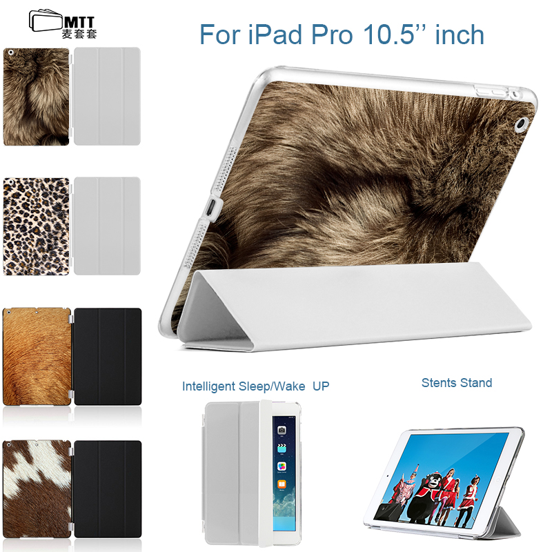MTT 2017 new Cover For Apple iPad Pro 10.5 inch Case PU Leather Flip Smart Stand Print Animal skins Cover For iPad 10.5 inch for ipad pro 10 5 inch 2017 origami stand smart pu leather flip case cover brown