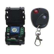 DC 12V relay 1CH 433MHz wireless RF Remote Control Switch Transmitter + Receiver 10166